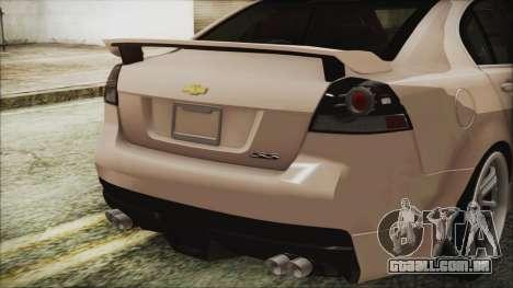 Chevrolet Lumina 2009 para GTA San Andreas vista traseira