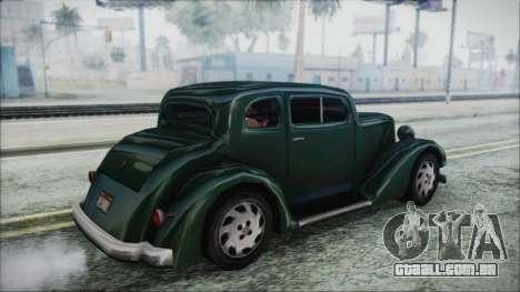 Hustler Beta para GTA San Andreas esquerda vista