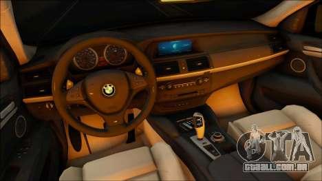 BMW X6M para GTA San Andreas vista traseira