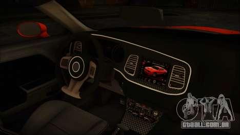 Dodge Challenger SRT 2015 Hellcat General Lee para GTA San Andreas vista traseira