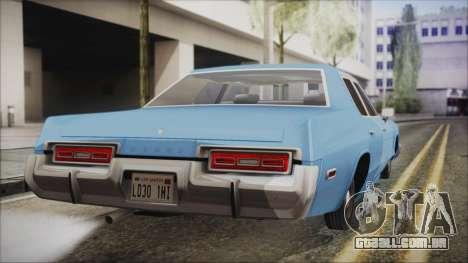 Dodge Monaco 1974 Civilian para GTA San Andreas esquerda vista