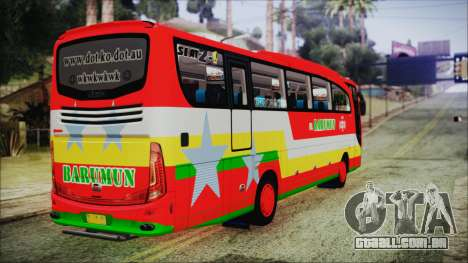 Bus Pt.BARUMUN Sibuhuan para GTA San Andreas esquerda vista