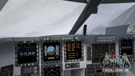 GTA 5 B-2A Spirit Stealth Bomber décimo imagem de tela