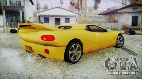 Gangsta Infernus para GTA San Andreas traseira esquerda vista
