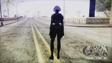 Black Hair Domino from Deadpool para GTA San Andreas terceira tela