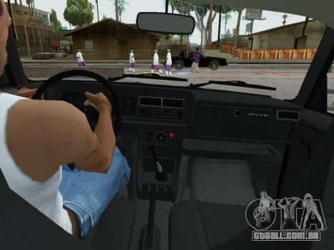 VAZ 2107-107 para vista lateral GTA San Andreas