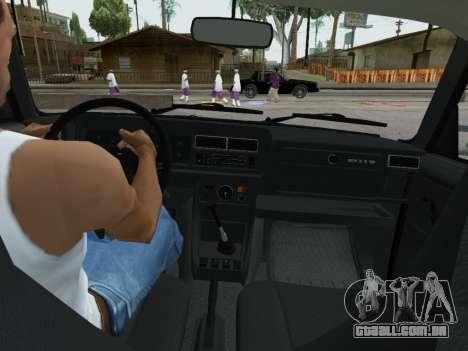 VAZ 2107-107 para vista lateral GTA San Andreas