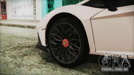 Lamborghini Aventador SV 2015 para GTA San Andreas traseira esquerda vista