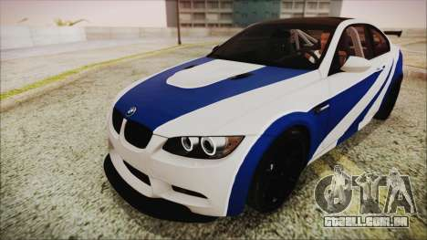 BMW M3 GTS 2011 IVF para GTA San Andreas vista inferior