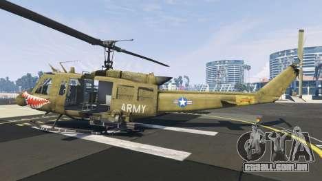 Bell UH-1D Iroquois Huey Gunship para GTA 5