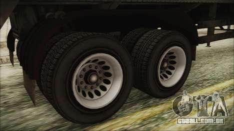 GTA 5 RON Tanker Trailer para GTA San Andreas traseira esquerda vista