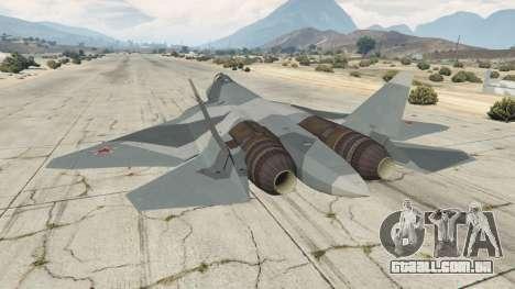 GTA 5 T-50 PAK FA v0.02 terceiro screenshot