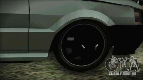 Fiat Uno Fire Tuning para GTA San Andreas traseira esquerda vista