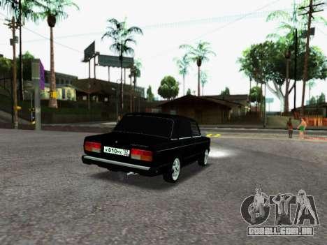 VAZ 2107-107 para GTA San Andreas traseira esquerda vista