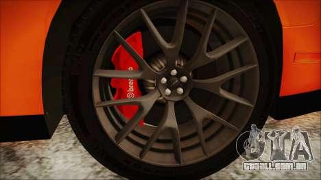 Dodge Challenger SRT 2015 Hellcat General Lee para GTA San Andreas vista direita