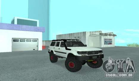 Toyota Autana 4500 off-road LED para GTA San Andreas vista traseira