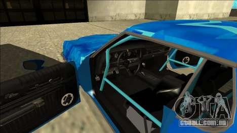 Ford Gran Torino Drift Blue Star para GTA San Andreas vista interior