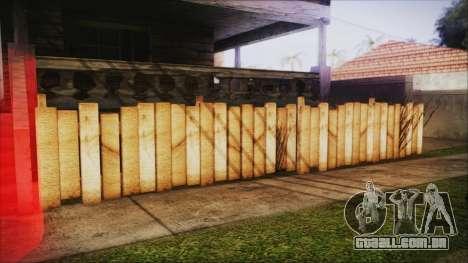 Wooden Fences HQ 1.2 para GTA San Andreas terceira tela