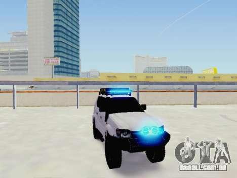 Toyota Land Cruiser Prado off-road LED para GTA San Andreas vista direita