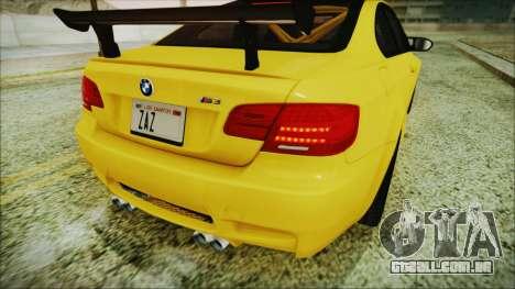 BMW M3 GTS 2011 IVF para GTA San Andreas vista superior