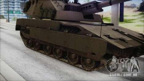 M4 Scorcher Self Propelled Artillery para GTA San Andreas traseira esquerda vista