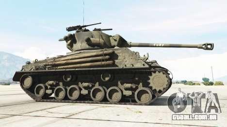 GTA 5 M4A3E8 Sherman Fury traseira direita vista lateral