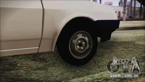 2109 Escoamento para GTA San Andreas traseira esquerda vista