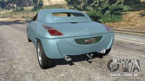 GTA 5 Daewoo Joyster Concept 1997 v1.2 traseira vista lateral esquerda