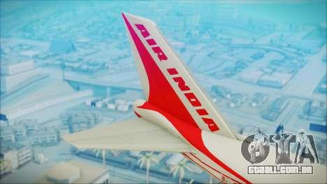 Boeing 747-237Bs Air India Himalaya para GTA San Andreas traseira esquerda vista