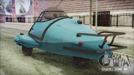 Fallout 4 Fusion Flea para GTA San Andreas esquerda vista