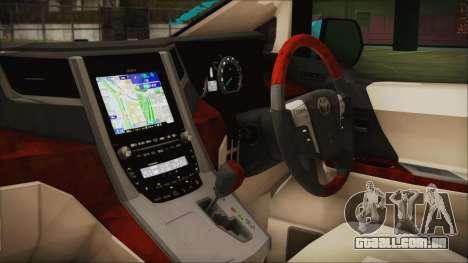 Toyota Alphard Hatsune Miku para GTA San Andreas vista direita