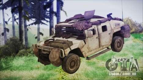 Humvee from Spec Ops The Line para GTA San Andreas vista direita