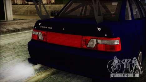 VAZ 2110 Esporte para GTA San Andreas vista interior