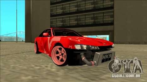 Nissan Silvia S14 Drift Red Star para GTA San Andreas traseira esquerda vista