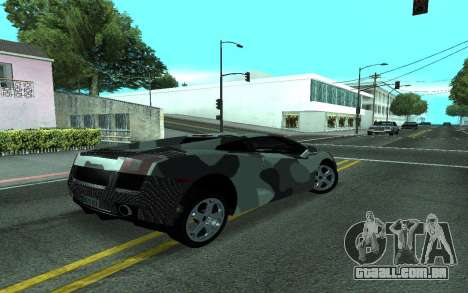 Lamborghini Gallardo Tunable para GTA San Andreas vista interior