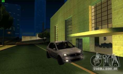 Renault Logan para GTA San Andreas vista direita