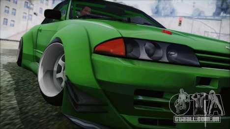 Nissan Skyline R32 Rocket Bunny para GTA San Andreas traseira esquerda vista