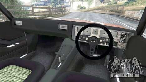GTA 5 Holden Monaro GTS traseira direita vista lateral