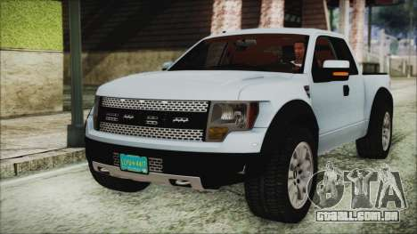 Ford F-150 SVT Raptor 2012 Stock Version para GTA San Andreas