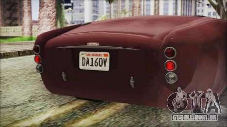 GTA 5 Declasse Mamba IVF para GTA San Andreas vista interior