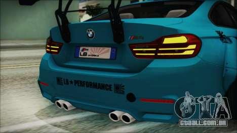 BMW M4 2014 Liberty Walk para vista lateral GTA San Andreas
