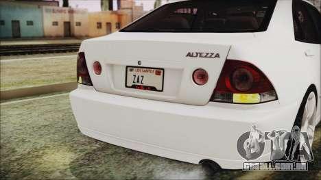Toyota Altezza 2004 Full Tunable HQ para GTA San Andreas vista interior