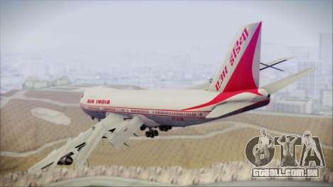 Boeing 747-237Bs Air India Mahendra Verman para GTA San Andreas esquerda vista