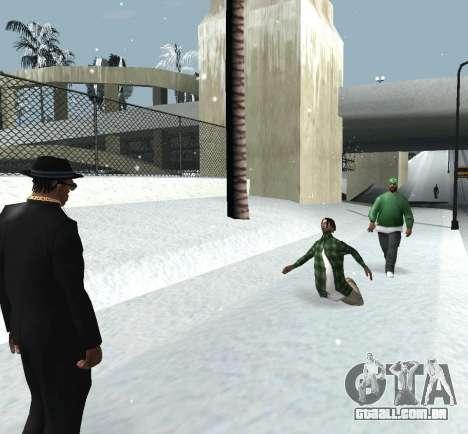 Jogando neve para GTA San Andreas por diante tela