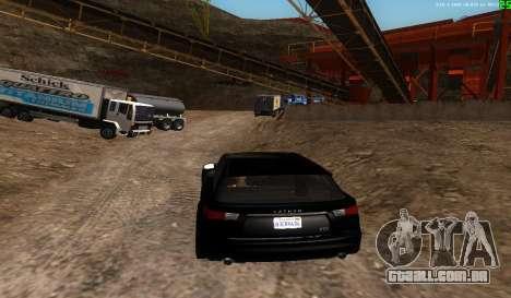 Não há melhor maneira para GTA San Andreas por diante tela