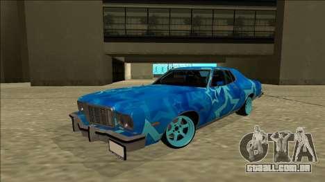 Ford Gran Torino Drift Blue Star para GTA San Andreas traseira esquerda vista