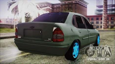 Chevrolet Corsa para GTA San Andreas esquerda vista