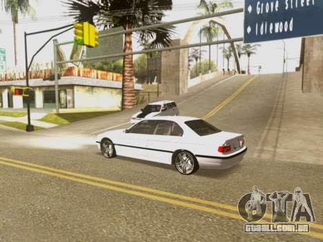 BMW 750i para GTA San Andreas vista inferior