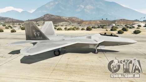 GTA 5 Lockheed Martin F-22 Raptor segundo screenshot