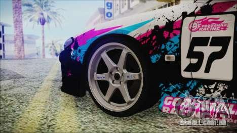 Nissan Silvia S15 Itasha Beta para GTA San Andreas traseira esquerda vista